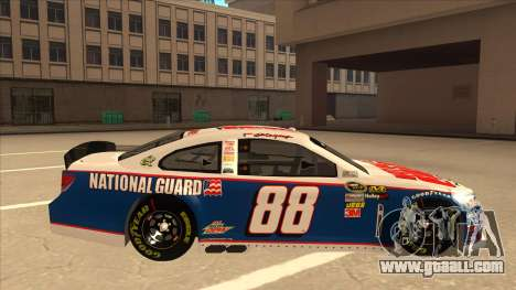 Chevrolet SS NASCAR No. 88 National Guard for GTA San Andreas back left view