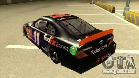 Toyota Camry NASCAR No. 11 FedEx Express for GTA San Andreas back view