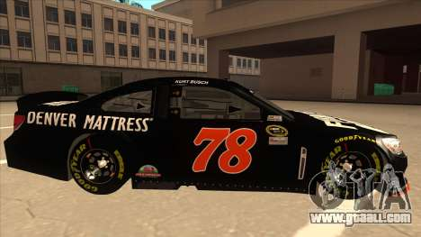 Chevrolet SS NASCAR No. 78 Furniture Row for GTA San Andreas back left view