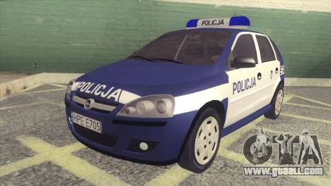 Opel Corsa C Policja for GTA San Andreas