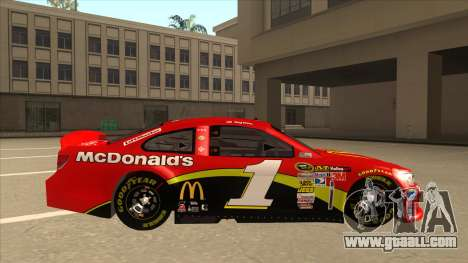 Chevrolet SS NASCAR No. 1 McDonalds for GTA San Andreas back left view