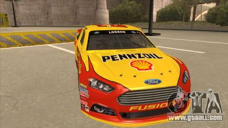 Ford Fusion NASCAR No. 22 Shell Pennzoil for GTA San Andreas left view