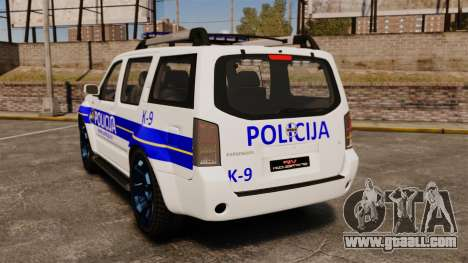 Nissan Pathfinder Croatian Police [ELS] for GTA 4 back left view