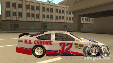 Ford Fusion NASCAR No. 32 U.S. Chrome for GTA San Andreas back left view