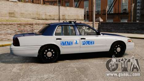 Ford Crown Victoria Virginia State Police [ELS] for GTA 4 left view