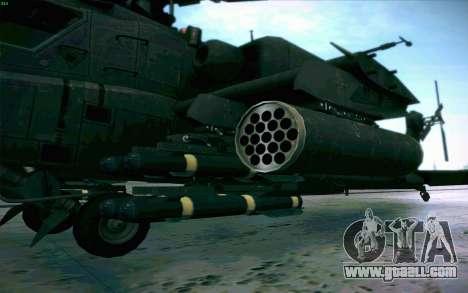 AH-64 Apache for GTA San Andreas inner view