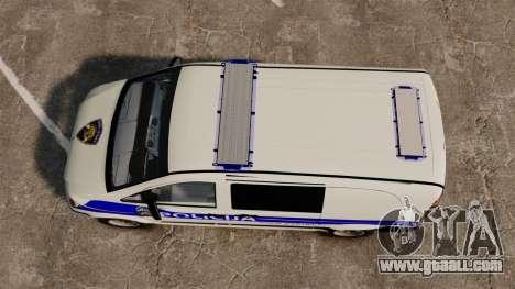 Mercedes-Benz Vito Croatian Police v2.0 [ELS] for GTA 4 right view
