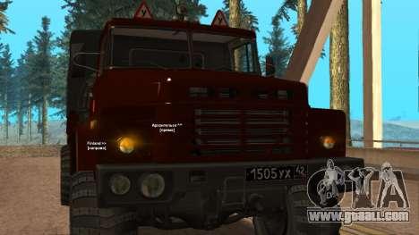 Truck driving school v. 2.0 for GTA San Andreas inner view