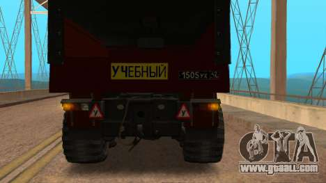 Truck driving school v. 2.0 for GTA San Andreas right view