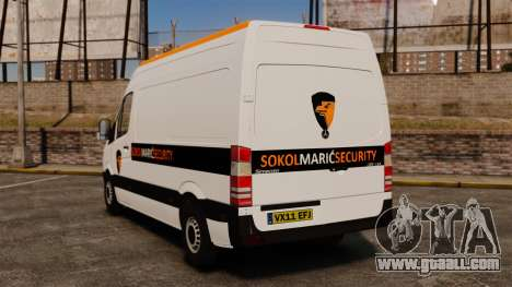 Mercedes-Benz Sprinter Sokol Maric Security for GTA 4 back left view