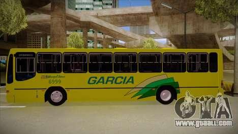 Busscar Urbanus SS Volvo B10 M garcia for GTA San Andreas back left view