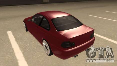 BMW M3 Tuned for GTA San Andreas back view