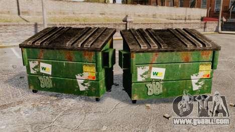 Dumpsters, Waste Management Inc. for GTA 4 second screenshot