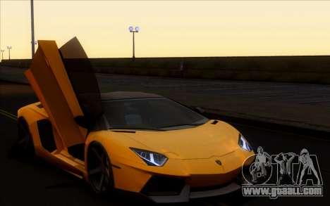 Lamborghini Aventador Vossen V2.0 Final for GTA San Andreas back left view