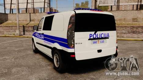 Mercedes-Benz Vito Croatian Police v2.0 [ELS] for GTA 4 back left view