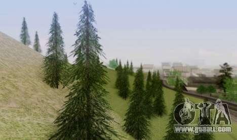 New vegetation 2013 for GTA San Andreas fifth screenshot