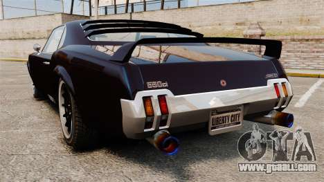 The new version of the Sabre GT for GTA 4 left view