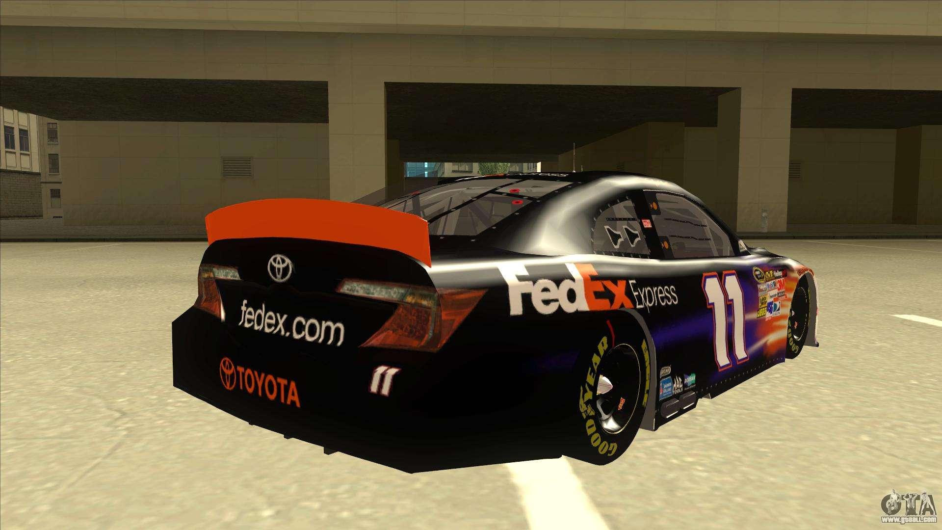 Toyota Camry Nascar No 11 Fedex Express For Gta San Andreas