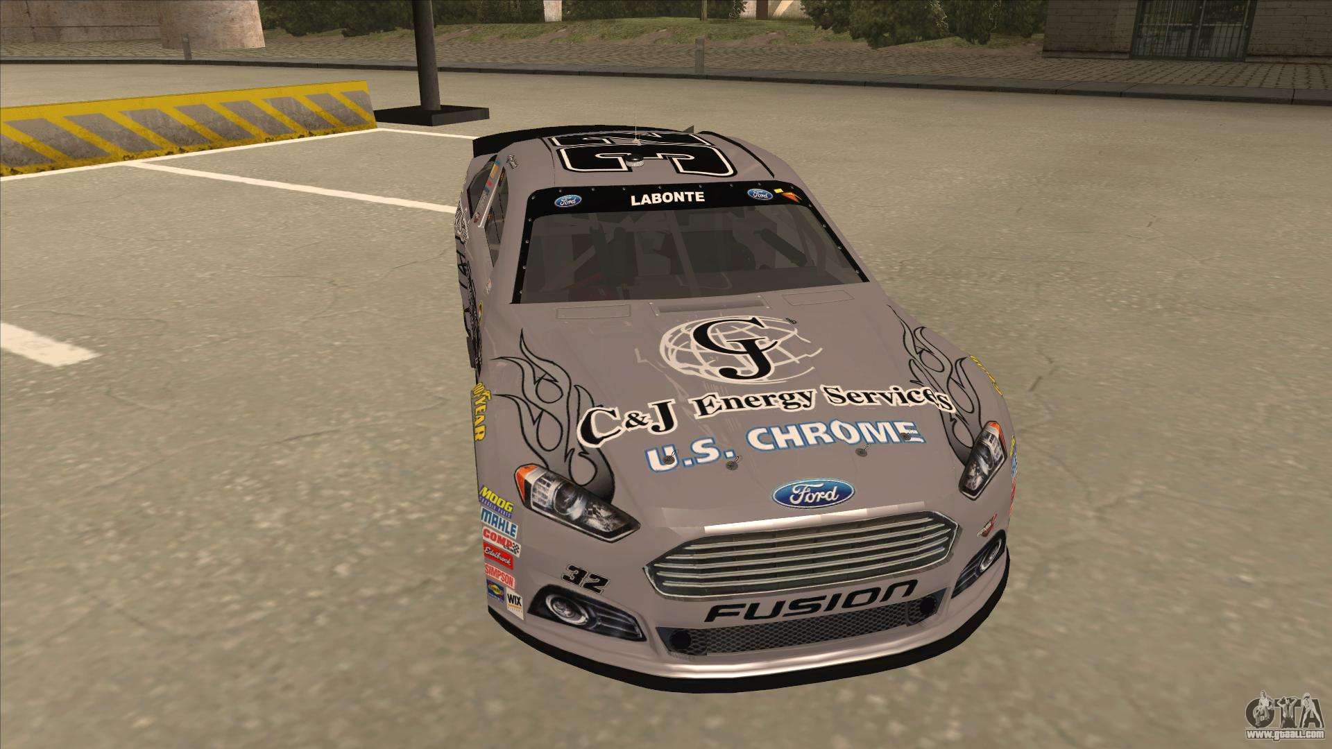 ford fusion nascar no 32 c j energy services for gta san andreas. Black Bedroom Furniture Sets. Home Design Ideas