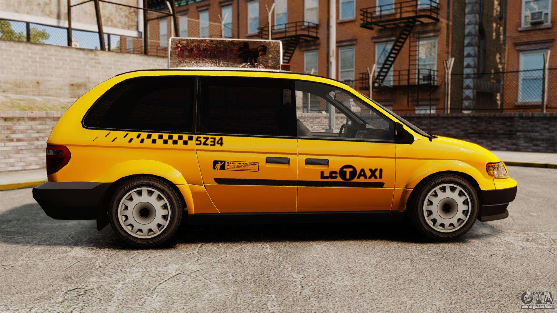 Dodge Grand Caravan 2005 Taxi Lc For Gta 4