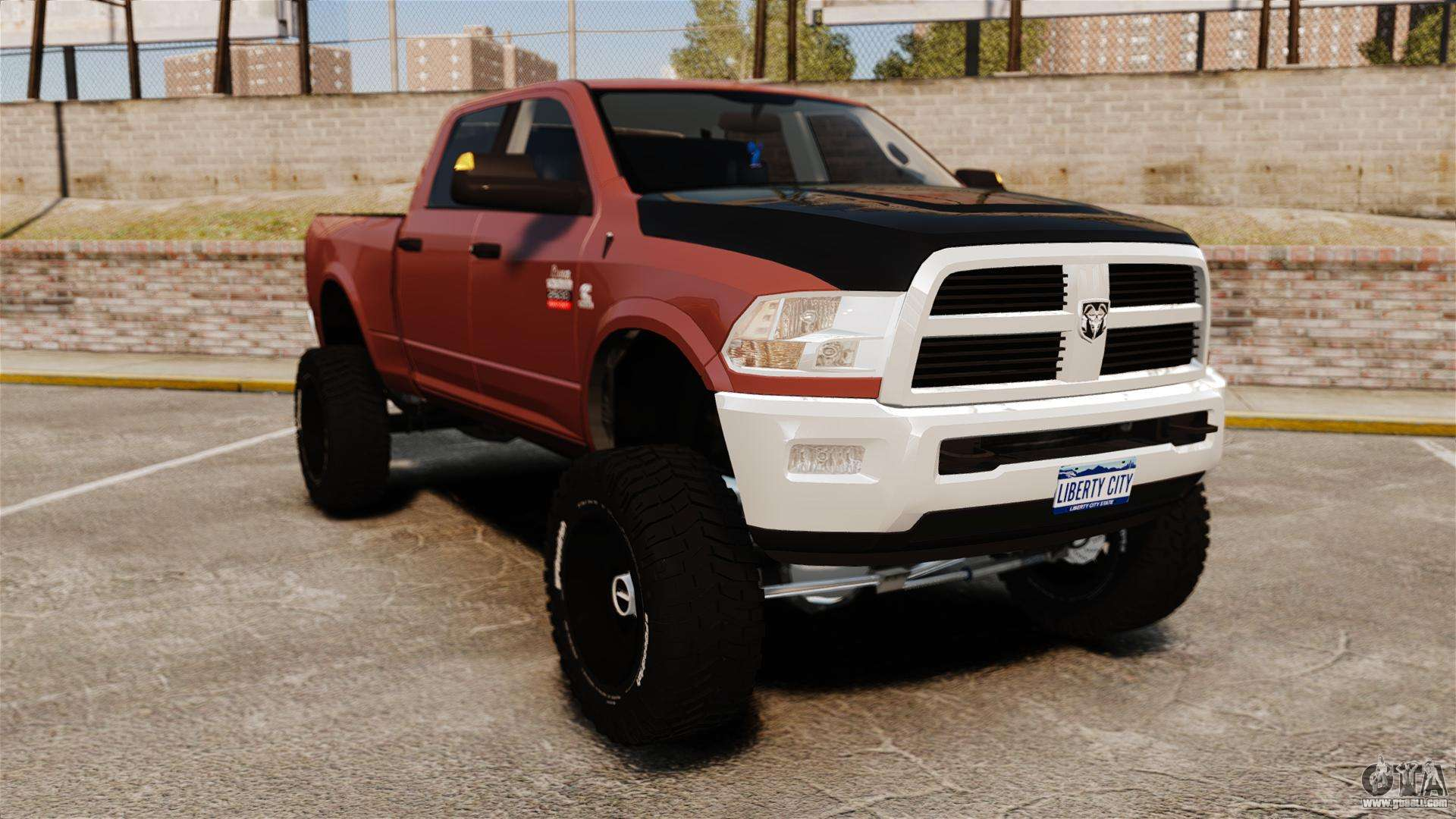 Dodge ram 2500 lifted edition 2011 for gta 4