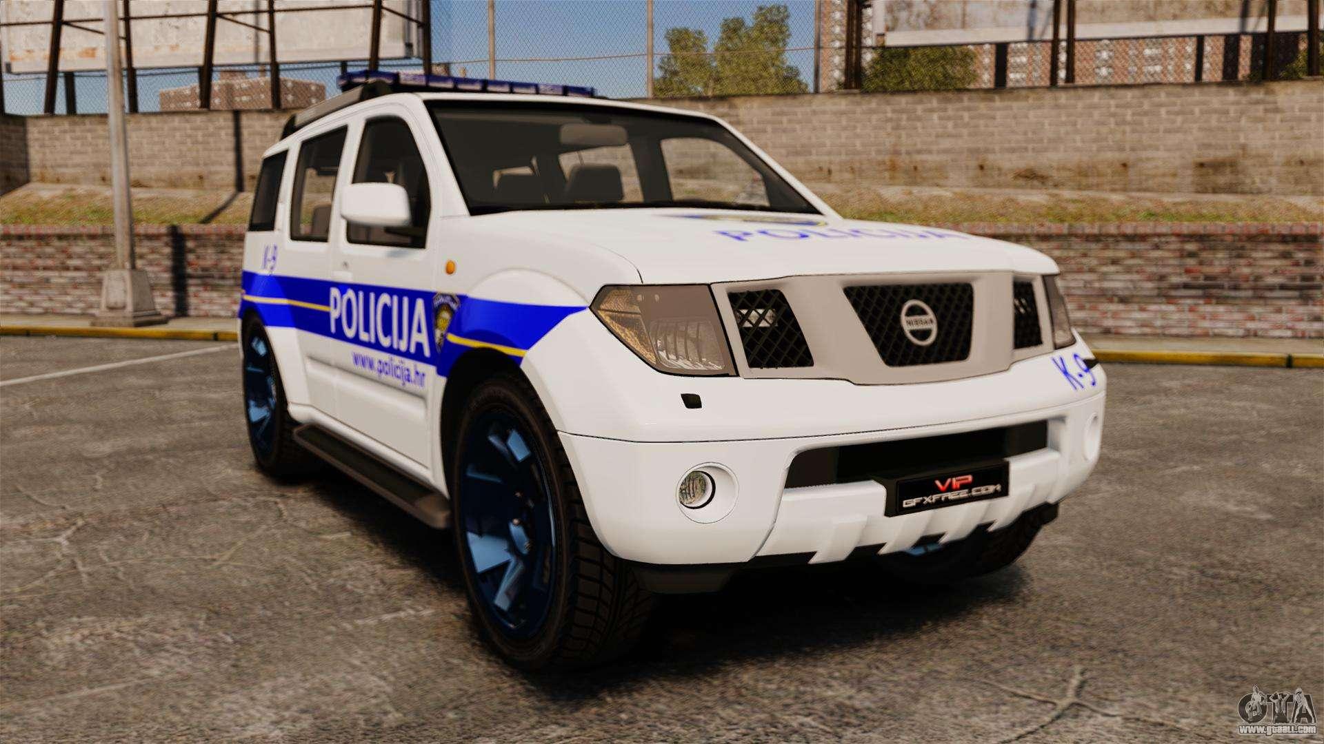 nissan pathfinder croatian police els for gta 4. Black Bedroom Furniture Sets. Home Design Ideas