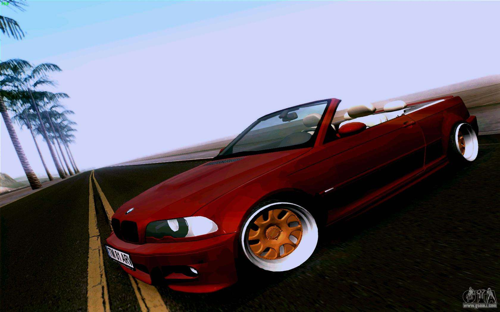 bmw m3 cabrio for gta san andreas. Black Bedroom Furniture Sets. Home Design Ideas