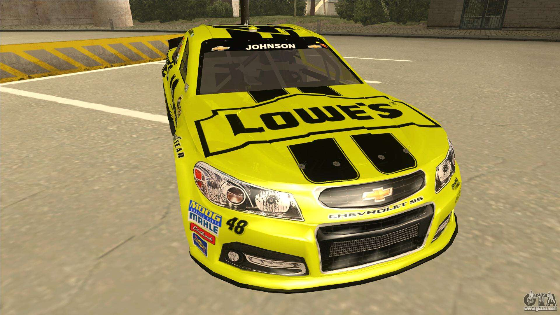 Chevrolet Ss Nascar No 48 Lowes Yellow For Gta San Andreas