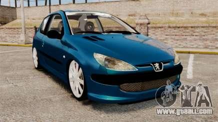 Peugeot 206 for GTA 4
