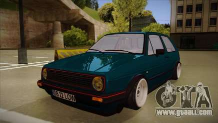 Volkswagen Golf MK2 Stance Nation by Razvan11 for GTA San Andreas