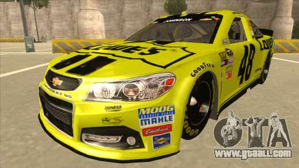 Chevrolet SS NASCAR No. 48 Lowes yellow for GTA San Andreas