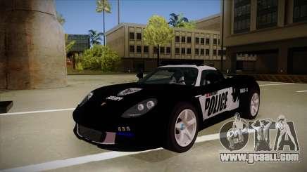 Porsche Carrera GT 2004 Police Black for GTA San Andreas
