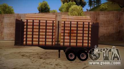 Semi-trailer timber truck for MB 2644 trem frente for GTA San Andreas