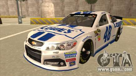 Chevrolet SS NASCAR No. 48 Lowes white for GTA San Andreas