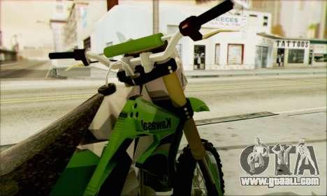 Kawasaki KLX 150 SE for GTA San Andreas back left view