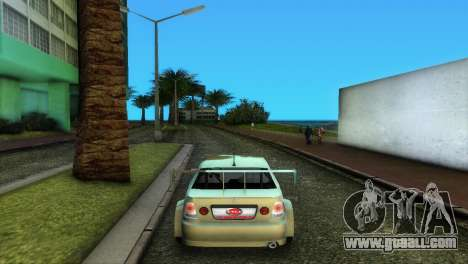 Lexus IS200 for GTA Vice City back view