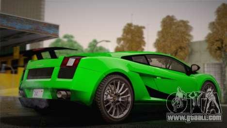 Lamborghini Gallardo Superleggera for GTA San Andreas inner view