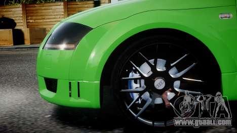 Audi TT Coupe 3.2 Quattro 2004 for GTA 4 left view
