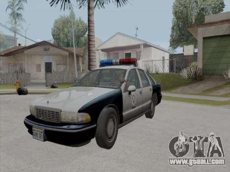 Chevrolet Caprice LVPD 1991 for GTA San Andreas inner view