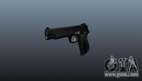 Semiautomatic pistol SIG P210 for GTA 4