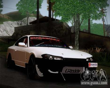 Nissan Silvia S15 JDM for GTA San Andreas back left view