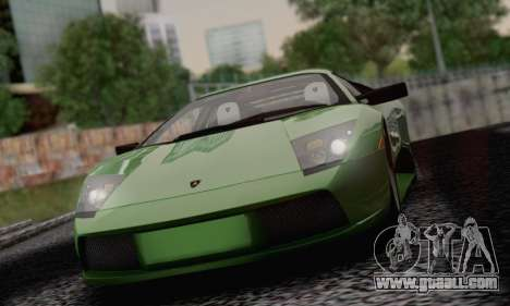 Lamborghini Murciélago 2005 for GTA San Andreas bottom view