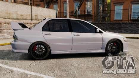 Mitsubitsi Lancer MR Evolution VIII 2004 Stock for GTA 4 left view