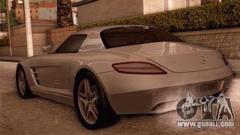 Mercedes-Benz SLS AMG 2010 for GTA San Andreas back left view