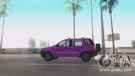 Ford EcoSport V2 for GTA San Andreas back left view
