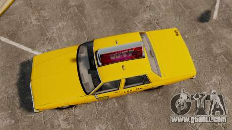 Chevrolet Caprice 1987 L.C.C. Taxi for GTA 4 right view