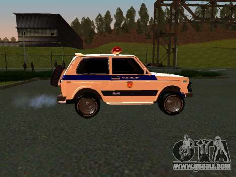 VAZ 212140 Police for GTA San Andreas back left view