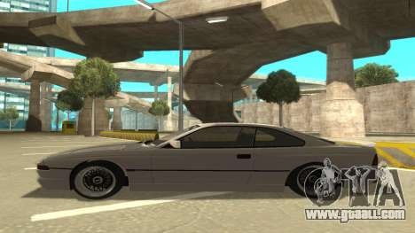 BMW 850CSi 1996 Stock version for GTA San Andreas back left view