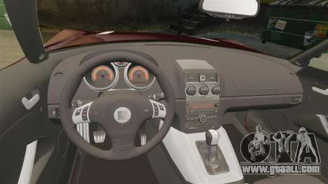 Saturn Sky Red Line Turbo for GTA 4 inner view