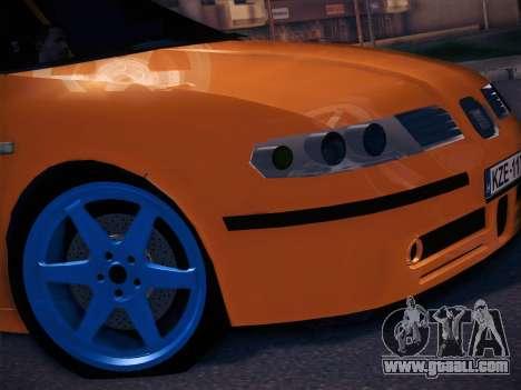 Seat Toledo Cupra R for GTA San Andreas back left view